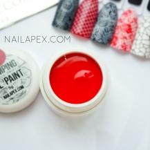 Гель-краска для стемпинга красного цвета — Nailapex stamping gel paint (5g)