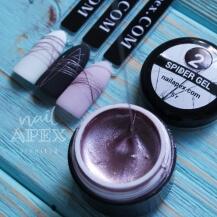 Паутинка гель Nailapex Professional Металлизированная розовая №2