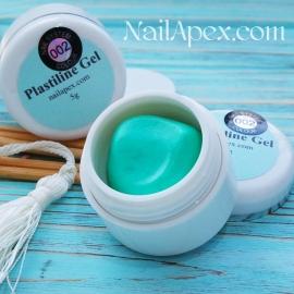 NAILAPEX «PLASTILINE Gel» Мятный ментол №2 (5g.) — Гель пластилин для лепки