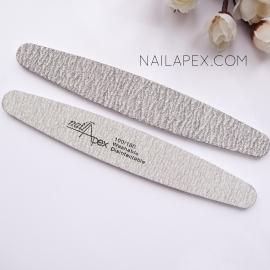 Nailapex пилка овальная (серая) — 100/180