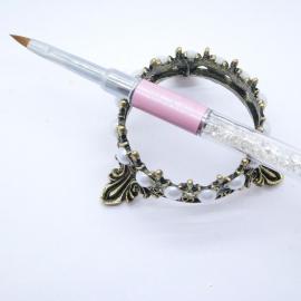 Кисть для лепки розовая хрусталь