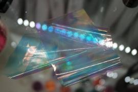 Фольга битое стекло (Белая голограмма с голубым оттенком)