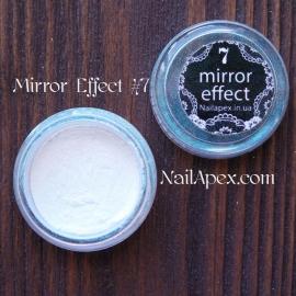 MIRROR effect White Hologram №7 зеркальный эффект
