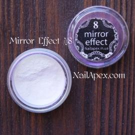 MIRROR effect White Hologram №8 зеркальный эффект
