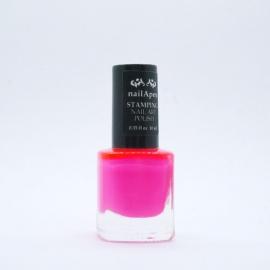Nail Apex лак для стемпинга №09 — Ярко-розовый (10ml)