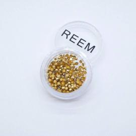 Декор для ногтей - заклепки золотые круглые (пластиковые)