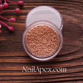 Бульонки метталические - розовое золото (мелкие)