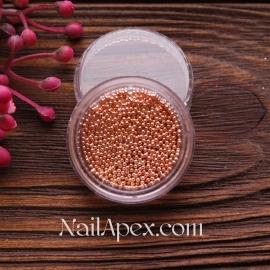 Бульонки метталические - розовое золото (крупные)