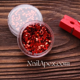 Декор для ногтей - №112 Круг мелкий красный