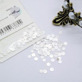 Декор Круги средние металлические в серебре (в пакете)