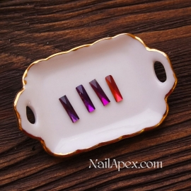Декор «Стеклянные камни» — Фиолетовые с переливом (в пакете)