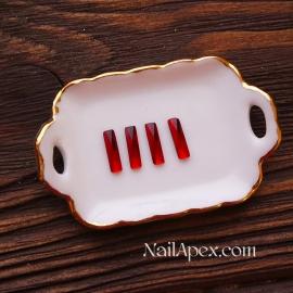 Декор «Стеклянные камни» — Красные  (в пакете)