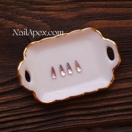 Декор «Стеклянные капли» — Мутно-розовые маленькие (в пакете 4шт.)