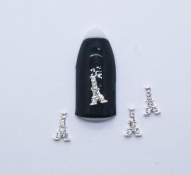Броши для ногтей - «Эйфелевая Башня» со стразами (J060-03)