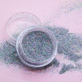 Песок №148 Песок голограммный в серебряном цвете (средней крупности)