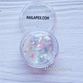 NAILAPEX «Хлопья» №9 — пигментные радужные хлопья