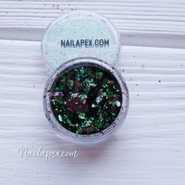 NAILAPEX «Хлопья» №3 — пигментные радужные хлопья