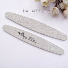 NailApex пилка овальная (серая) 180/240