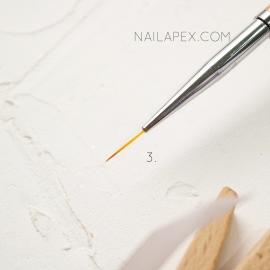 Кисть «YiKou» №3 — Линеарная (горчичная ручка)