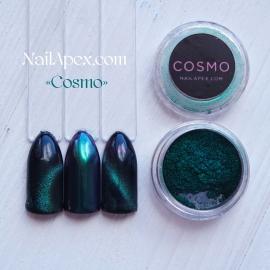 NAILAPEX Магнитная пудра & втирка «Cosmo» (Космо) (№2) Бирюза-фуксия