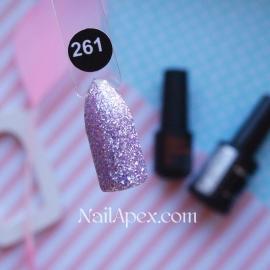 NailApex Gel Polish №261 гель-лак «Бриллиантовый Шиммер - Розовый агат» (6мл) ч/б