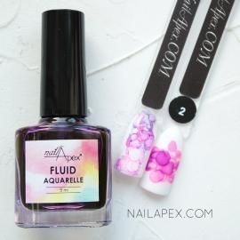 NAILAPEX «Акварельный Флюид» — №2 Фиолетовый AQUARELLE FLUIDE (5ml)