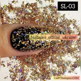 Голограммная слюда Nailapex (SL03)