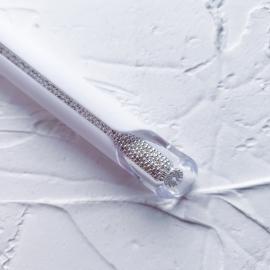 Ручка с бульонками — серебро