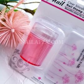 Штамп для стемпинга (розовый)