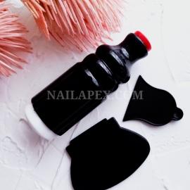 Штамп для стемпинга (чёрный)