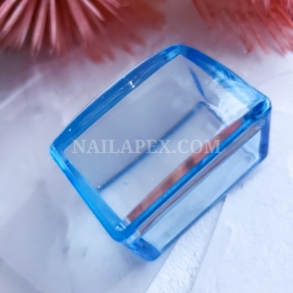 Штамп квадратный силиконовый (голубой)