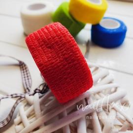 Бинт-бандаж для пальцев: красный (узкий)