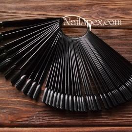 Типсы веерные «черные» (в упаковке 50 штук)