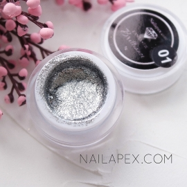 NailApex гель-краска Fantastik «BRILLIANCE» №001 — Римское Серебро