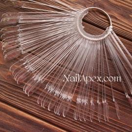 Типсы веерные прозрачные «миндалевидные» (в упаковке 50 штук)