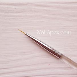Кисть для рисования тонкая SLH™ NailBrush (прозрачная ручка)