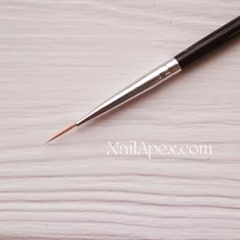 Кисть для рисования — Линеарная кисть №1 SLH™ NailBrush (темная ручка)