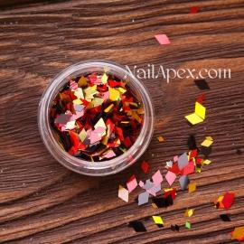 Ромбы для декора MIX — Красный, черный, золото голограммное  (№189)