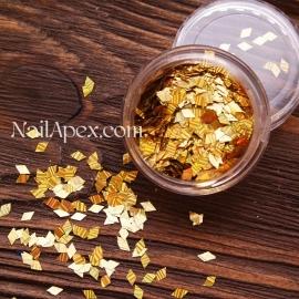 Ромбы для декора «БЛИК» — Золото (№185)