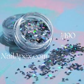 Декор для ногтей №190 — Голограммный треугольник (маленький)