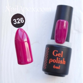 NailApex Gel Polish №326 гель-лак «» (6мл) ч/б