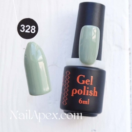 NailApex Gel Polish №328 гель-лак «» (6мл) ч/б
