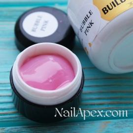NailApex Моделирующий Крем гель «Bubble Pink» (30g) Builder Gel — гель для ногтей