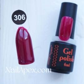 NailApex Gel Polish №306 гель-лак «» (6мл) ч/б
