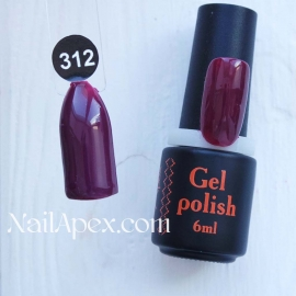 NailApex Gel Polish №312 гель-лак «» (6мл) ч/б