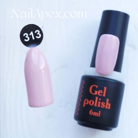 NailApex Gel Polish №313 гель-лак «» (6мл) ч/б