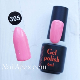 NailApex Gel Polish №305 гель-лак «» (6мл) ч/б