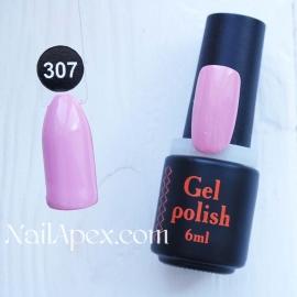 NailApex Gel Polish №307 гель-лак «» (6мл) ч/б