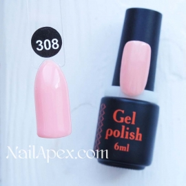 NailApex Gel Polish №308 гель-лак «» (6мл) ч/б