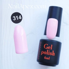 NailApex Gel Polish №314 гель-лак «» (6мл) ч/б